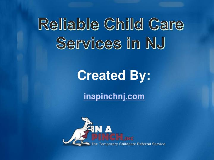 Reliable Child Care Services in NJ
