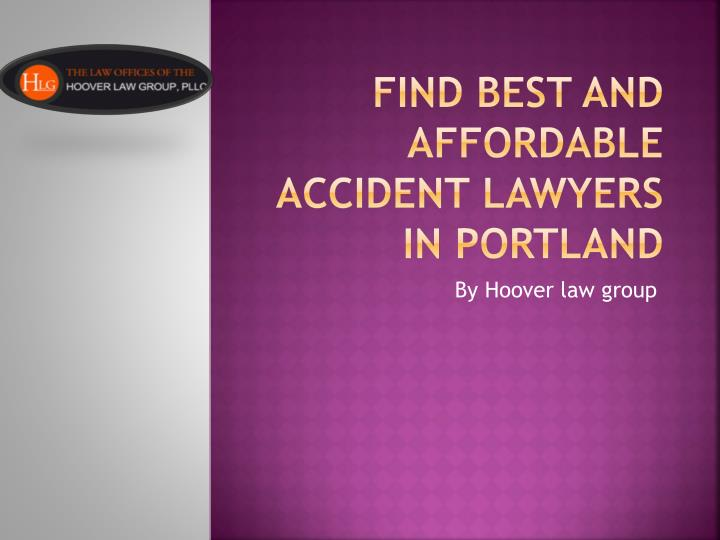 Find best and affordable accident lawyers in portland