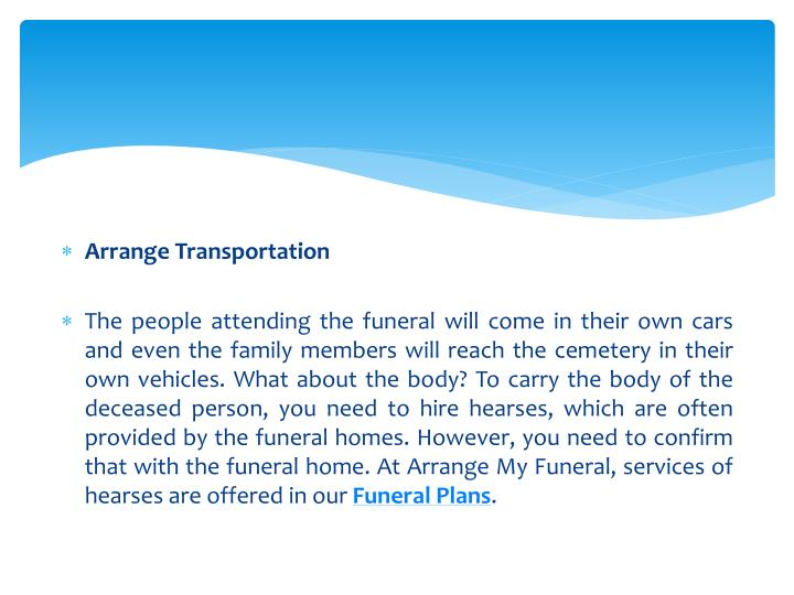 Arrange Transportation