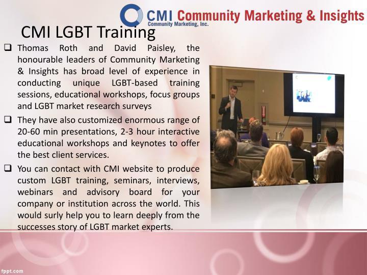 CMI LGBT Training
