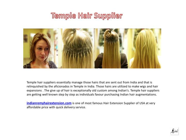 Temple Hair Supplier
