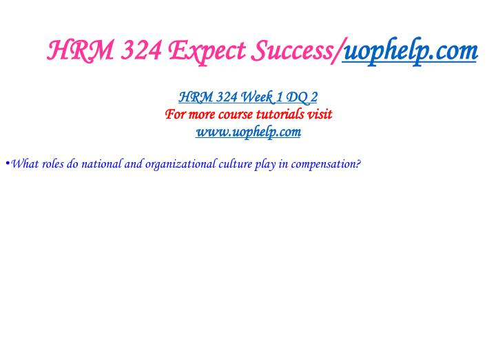 HRM 324 Expect Success/