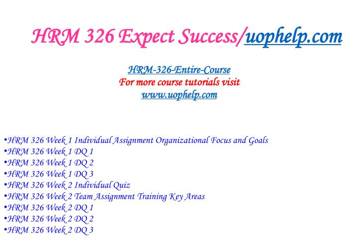 Hrm 326 expect success uophelp com1
