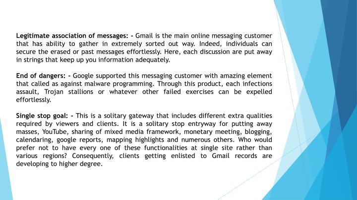 Legitimate association of messages: -