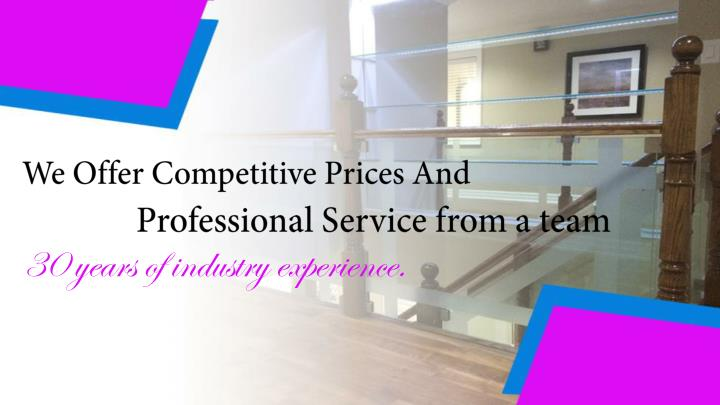 We Offer Competitive Prices And