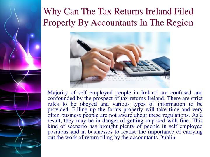 Why Can The Tax Returns Ireland Filed Properly By Accountants In The Region