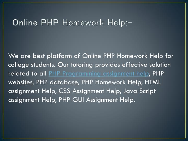 Online PHP