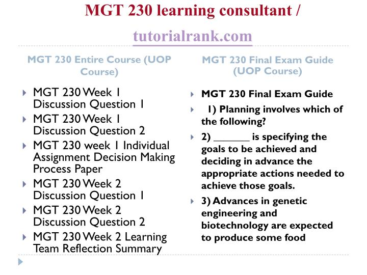 Mgt 230 learning consultant tutorialrank com1