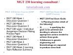 mgt 230 learning consultant tutorialrank com1
