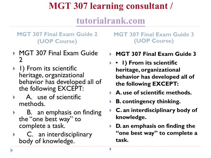 Mgt 307 learning consultant tutorialrank com2