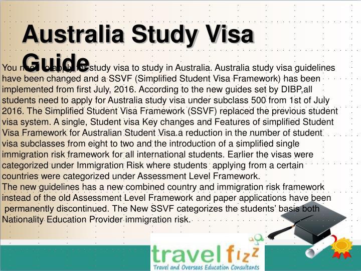 Australia Study Visa Guide