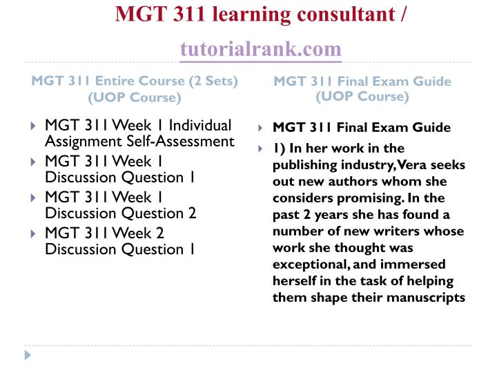 Mgt 311 learning consultant tutorialrank com1