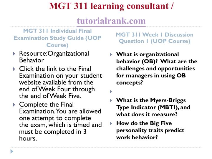 Mgt 311 learning consultant tutorialrank com2