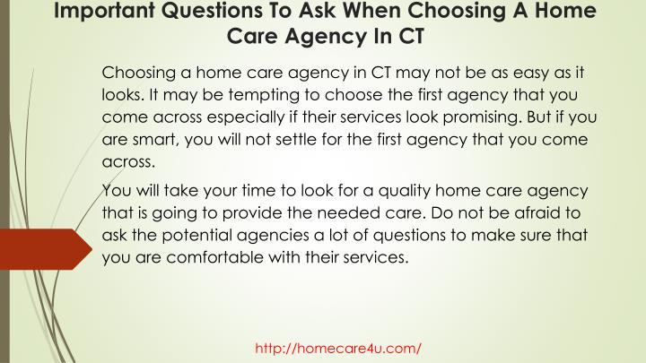 Important questions to ask when choosing a home care agency in ct1