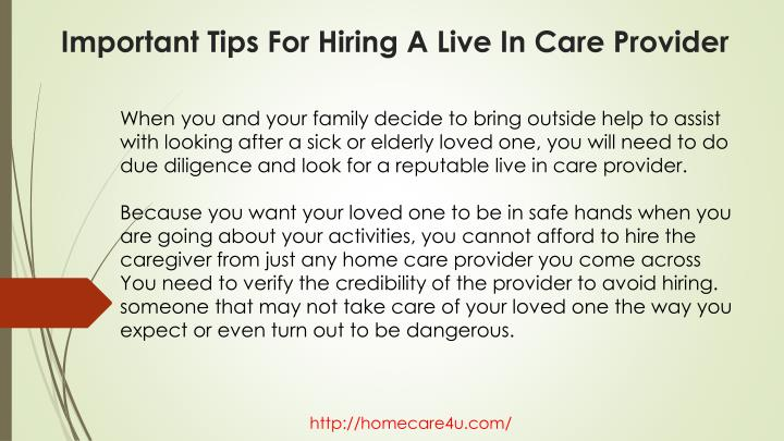 Important tips for hiring a live in care provider1