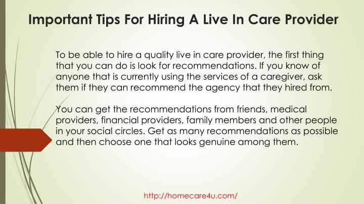 Important tips for hiring a live in care provider2