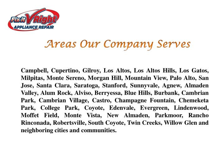Areas Our Company Serves