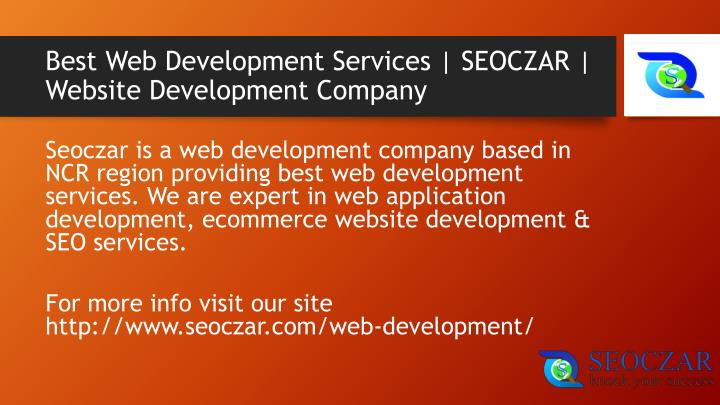 Best web development services seoczar website development company
