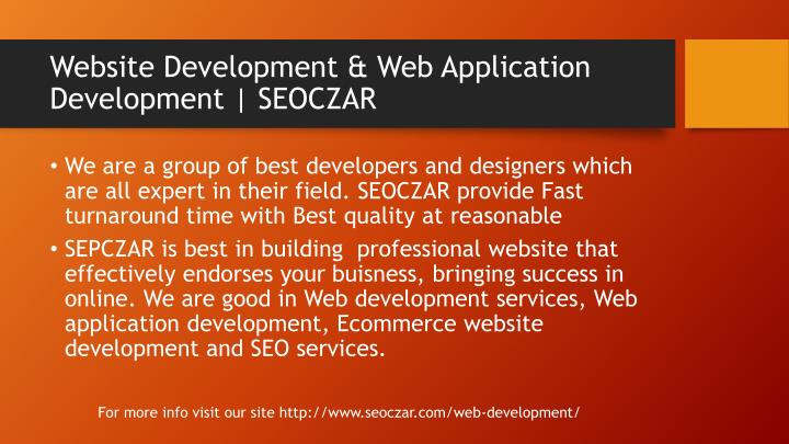Website Development & Web Application Development | SEOCZAR