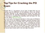 top tips for cracking the po exam