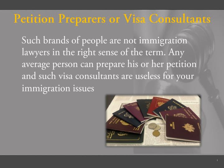 Petition Preparers or Visa Consultants