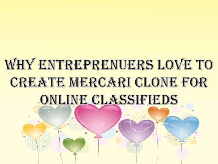 Why entreprenuers love to create mercari clone for online classifieds