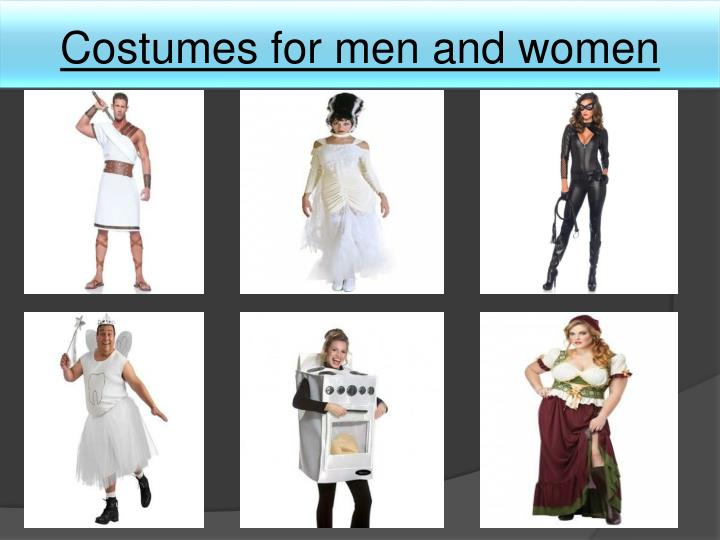 Costumes for men and