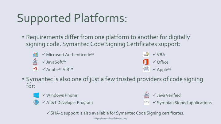 Supported Platforms: