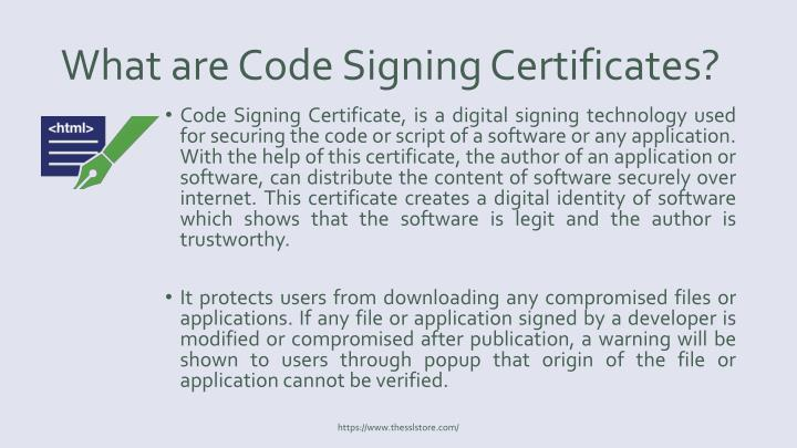 What are Code Signing Certificates?