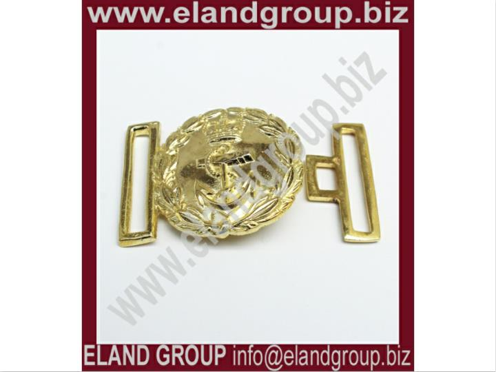 Navy officer brass buckle gold