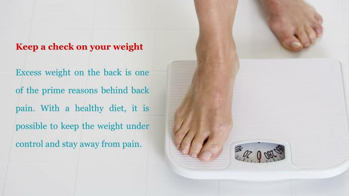 Keep a check on your weight