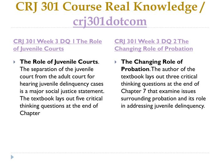 CRJ 301 Course Real Knowledge /