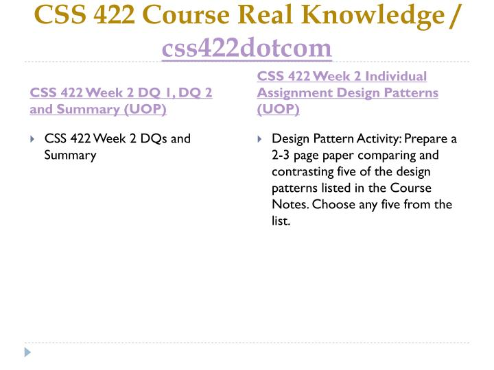 Css 422 course real knowledge css422dotcom2