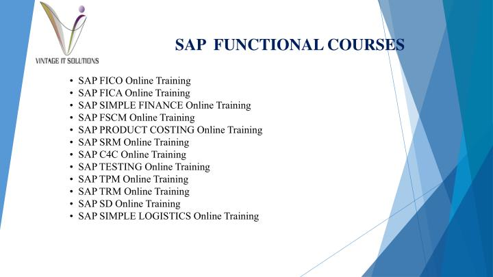SAP  FUNCTIONAL COURSES