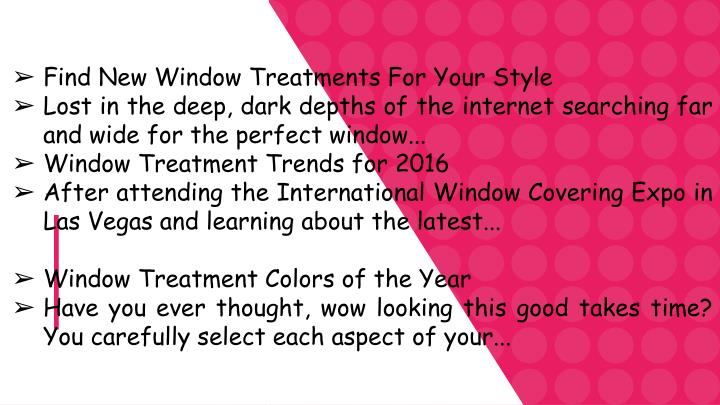 Find New Window Treatments For Your Style