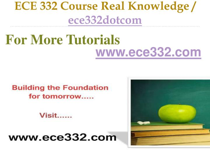 ece 332 course real knowledge ece332dotcom