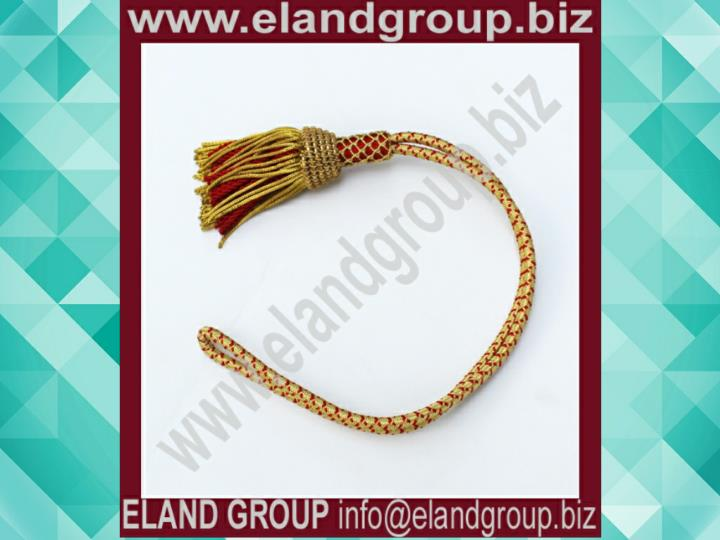 Officer sword knot gold red sword knot