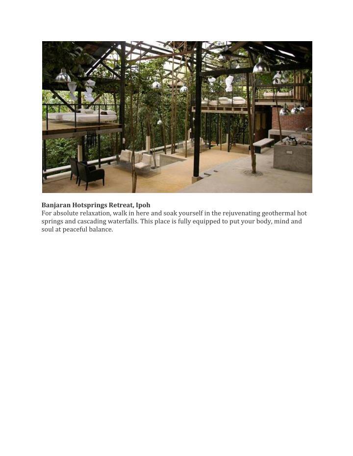 Banjaran Hotsprings Retreat, Ipoh