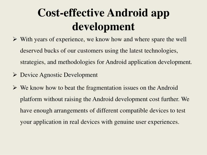 Cost-effective Android app development