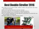 best double stroller 20163