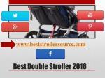 best double stroller 20164