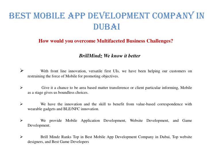 Best Mobile APP Development Company In Dubai