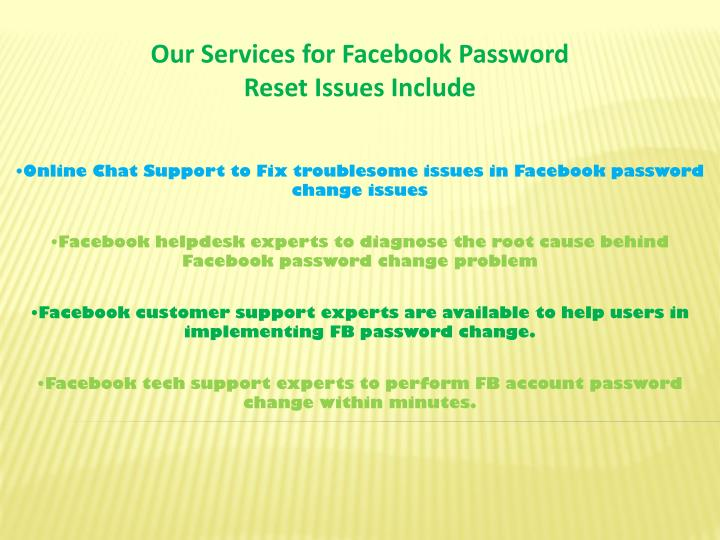 Our Services for Facebook Password
