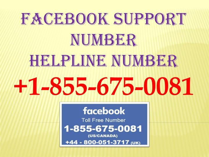 Facebook support number