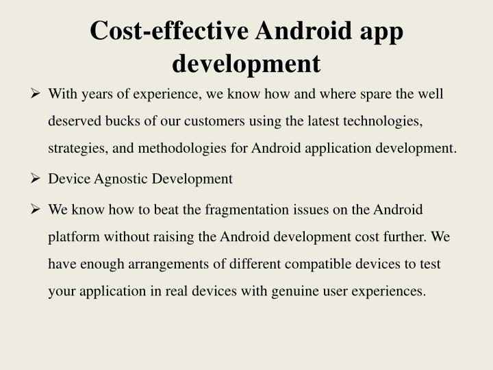 Cost-effective Android app