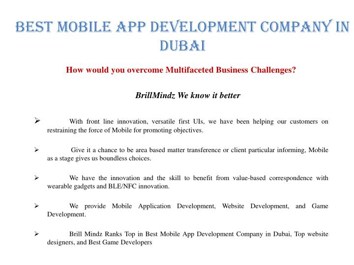 Best Mobile APP Development Company In