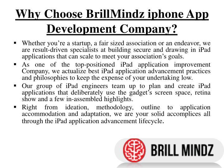 Why Choose BrillMindz iphone App