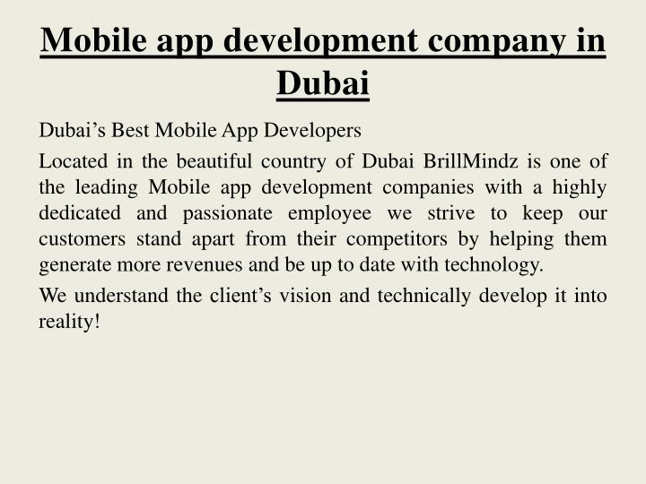 Mobile app development company in