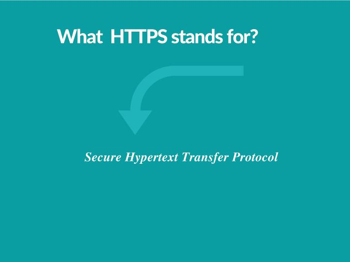 What  HTTPS stands for?