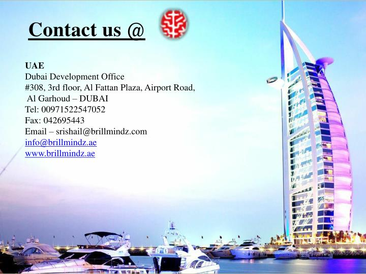 Contact us @